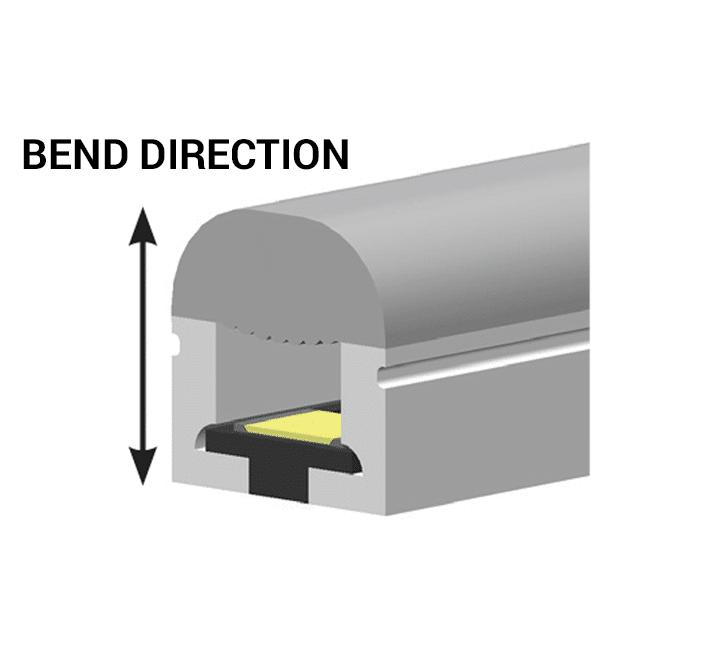 Shadow-Caster Marine LED Lighting SCM-AL-MINI-NEON Bend Direction