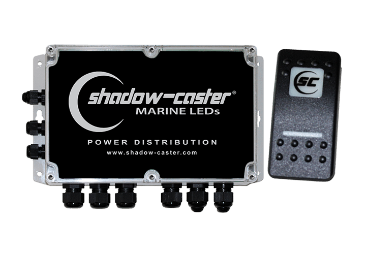 Shadow-Caster Marine LED Lighting SCM-PD-PLUS 6 POSITION POWER DISTRIBUTION BOX WITH SHADOW-NET CONTROL